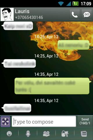 GO SMS Pro Fire