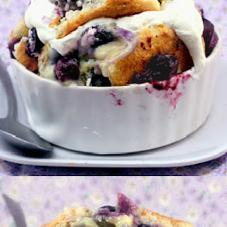 Magic Blueberry Coconut Lime Pudding Cake