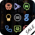 Free Neon (Go Apex Nova) Icon Theme APK for Windows 8