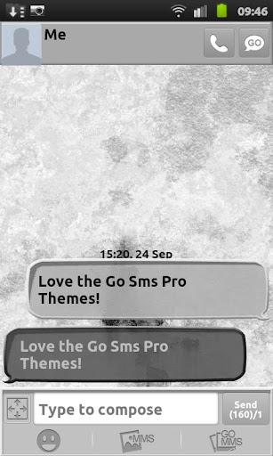 玩個人化App Whitewashed Go Sms Theme免費 APP試玩