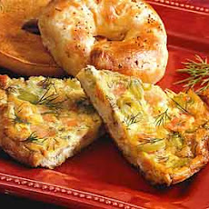 Smoked Salmon, Leek, and Dill Frittata