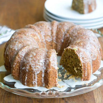Zucchini Olive Oil Cake with Crunchy Lemon Glaze