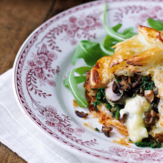 Mushroom and Camembert Wellingtons