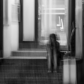 loneliness by Cory Bohnenkamp - Digital Art People ( abstract, b&w, black and white, loneliness, digital art, alone )