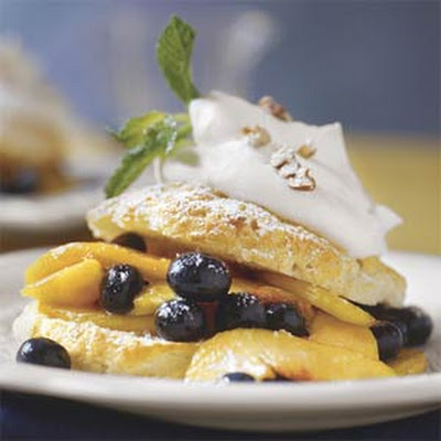 Southern Peach-and-Blueberry Shortcakes