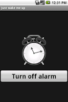 Screenshot of Just wake me up (alarm clock)