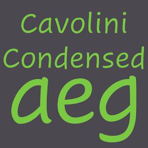 Cover art Cavolini Condensed FlipFont