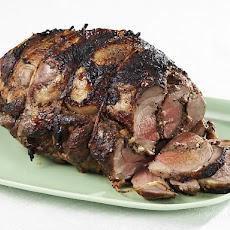 Olive Stuffed Leg of Lamb