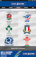 Screenshot of RBS 6 Nations Championship App
