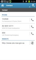 Screenshot of NSW SES