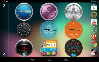 Screenshot of Beautiful Clock Widget Pro