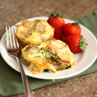 Cheesy Potato Egg and Spinach Mini Quiches