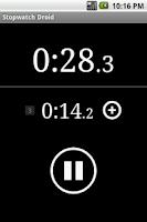 Screenshot of Stopwatch Droid