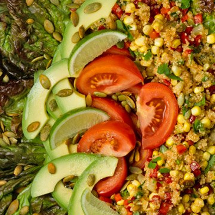 Quinoa and Corn Salad with Pumpkin Seeds Recipe | Yummly