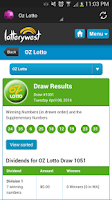 Screenshot of Australian Lotto Results