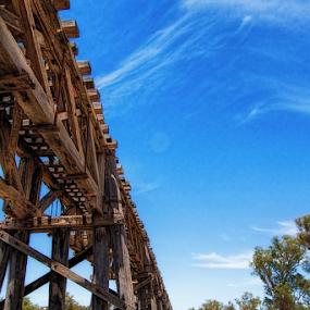 Historic Bridges of Gundagai II by Bevlea Ross - Buildings & Architecture Architectural Detail ( bridge,  )