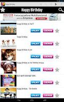 Screenshot of Happy Birthday Video Share App