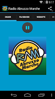 Screenshot of Radio Abruzzo Marche
