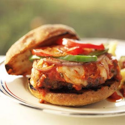 Grilled Italian Meatball Burgers