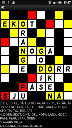 Crossword Puzzle Fill in