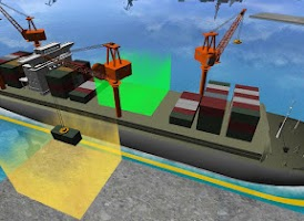 Screenshot of Cargo Ship Extended Crane 3D