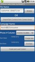Screenshot of MobilCTI Power Dialer Basic