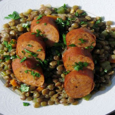 Lentils with Andouille Sausage
