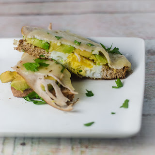 Avocado, Turkey and Pepper Jack Breakfast Sandwich