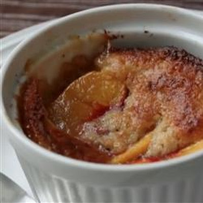 Basil Peach Pepper Parmesan Cobbler