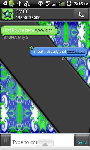GO SMS THEME BrightBlueGrn