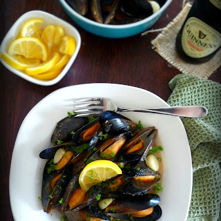 Mussels in Guinness & Garlic Sauce