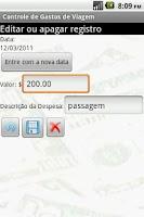 Screenshot of Gerenciador de viagens