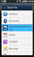 Screenshot of Bluetooth Smart  Printing