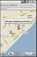 Screenshot of Thorny's Steakhouse