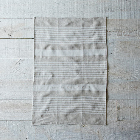 Striped Delicious Tea Towel