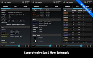 Screenshot of Sun Surveyor Lite