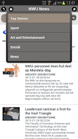 Screenshot of NWU Mobile