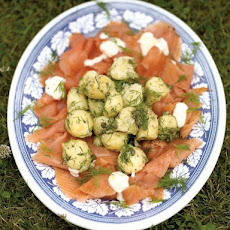 Potato Salad With Smoked Salmon & Horseradish Crème Fraiche