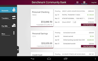 Screenshot of Benchmark Community Bank