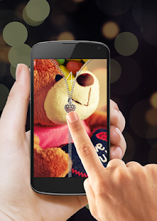 Download Teddy Bear Zipper Lock Screen APK for Android Kitkat