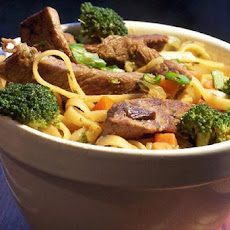Stir Fry Steak and Noodles
