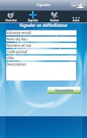 Screenshot of Défibrillateurs en France