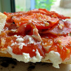 Tomato, Bacon and Cottage Cheese