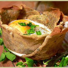Egg Baked in Herb Crêpes