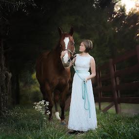 Classic by Annamarie Dearr - Babies & Children Child Portraits ( love, horses, emotional, friendship, children, portraits, classic )