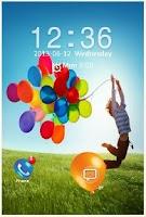 Screenshot of GALAXY S4 BALLOON LOCK SCREEN