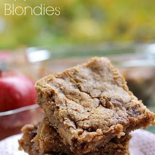Apple Peanut Butter Blondies