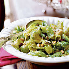 Brussels Sprouts with Currants and Pine Nuts