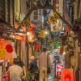 Golden Gai by Sue Matsunaga - City,  Street & Park  Street Scenes
