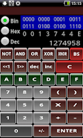 Screenshot of Hex Bin Dec Calculator Free